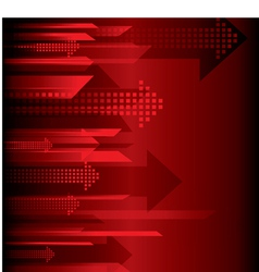 arrow red background vector image vector image