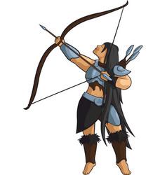 beautiful viking hunter vector image