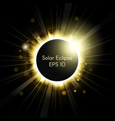 total solar eclipse vector image