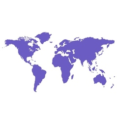 blue isolated world map silhouette vector image