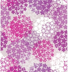Decorative seamless flower vector image vector image