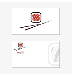 logo design element Sushi roll japan vector image