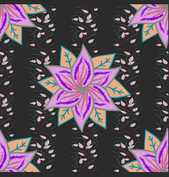 seamless floral pattern in flowers on colorful vector image vector image