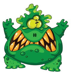 terrible green monster vector image vector image