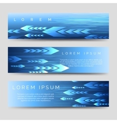 Abstract horizontal banner template with arrows vector image vector image