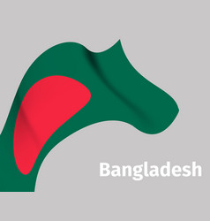 background with bangladesh wavy flag vector image vector image