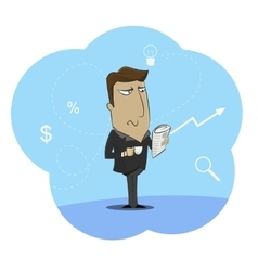 businessman holding cup of morning vector image vector image
