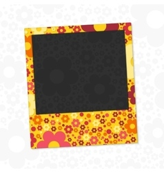 Flowers photo frame vector image vector image