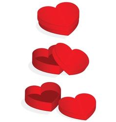 heart valentine box vector image