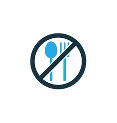 not eating colorful icon symbol premium quality vector image vector image
