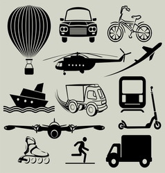 transport icons3 resize vector image vector image