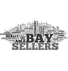 what e bay gets from sellers text word cloud vector image vector image