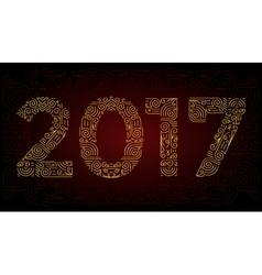 year Mono line elegant design elements symbols vector image vector image