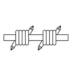 Barbed wire icon outline style vector image