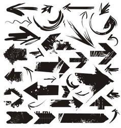 grunge arrows vector image vector image