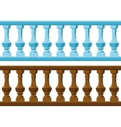 wood and Stone railing vector image vector image