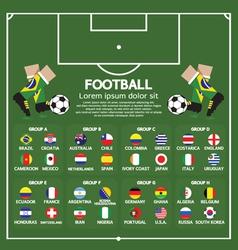 2014 Football Tournament Chart vector