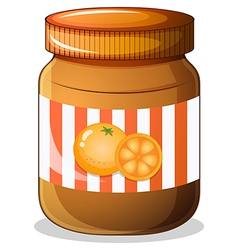 A bottle orange jam vector
