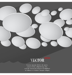 Abstract Flat modern web button with long shadow vector image