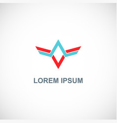 abstract line sharp company logo vector image