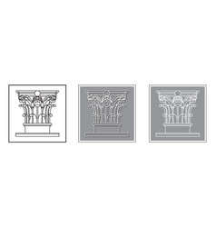 antique column vector image