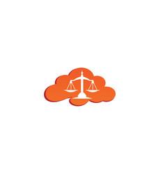 balance symbol scales logo design law symbol in vector image