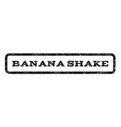 Banana shake watermark stamp vector