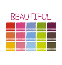 Beautiful Color Tone vector image