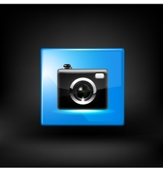 Black camera vector image