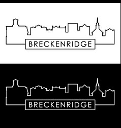 breckenridge skyline linear style editable file vector image