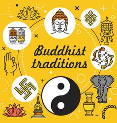 Buddhism religion buddha buddhist zen lotus om vector