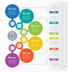 Business presentation concept with 6 options web vector