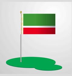 Chechen republic flag pole vector