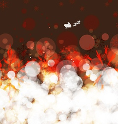 Christmas and happy new year abstract snowflakes vector