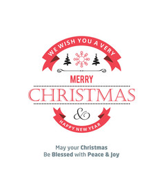 christmas card with typography vector image