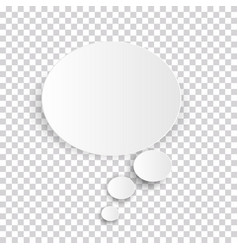 Cloud icon white thought bubble on transparent vector