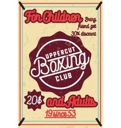 Color vintage Boxing poster vector
