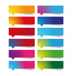 Colorful empty label set vector