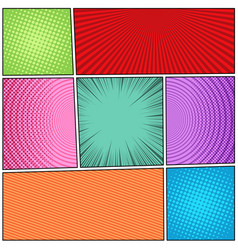 Comic book backgrounds composition vector
