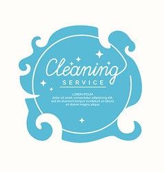 Conceptual poster cleaning service vector image