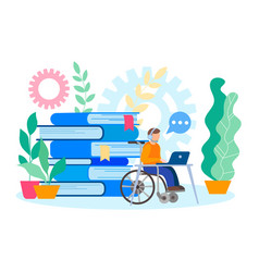 Education and job for physical handicapped vector