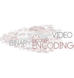 Encoding word cloud concept vector