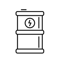 energy barrel icon outline style vector image