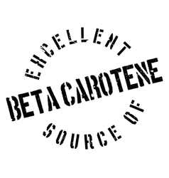 Excellent source of beta carotene stamp vector image