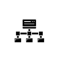File transfer shared site flat icon vector