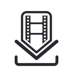 film download icon vector image