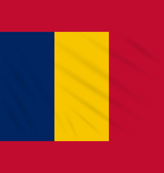 Flag chad swaying in wind realistic vector