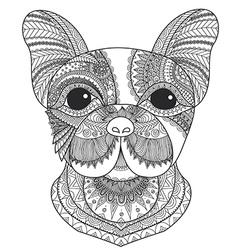 French bulldog coloring vector image