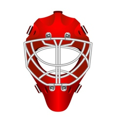 Goalie helmet vector