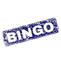 Grunge bingo framed rounded rectangle stamp vector